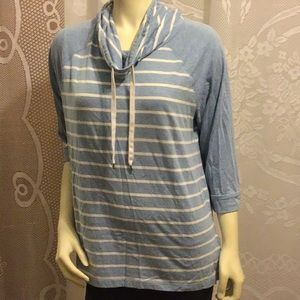 Chaps Women Pullover Sweatshirt 3/4 Sleeve Size XL